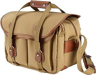 Billingham 335 Canvas Camera Bag with Tan Leather Trim - Khaki