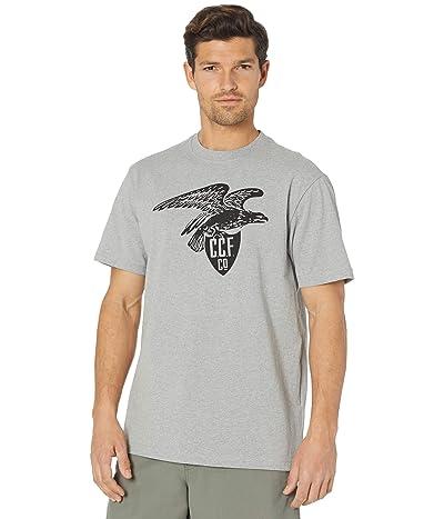 Filson Short Sleeve Pioneer Graphic T-Shirt (Fast Track) (Light Heather Gray (Eagle Shield)) Men