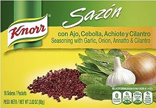 Knorr Sazon Seasoning, Garlic Onion Annatto and Cilantro 2.8 Ounce, 16 ct