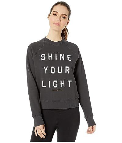 Spiritual Gangster Classic Crew Sweatshirt (Light Vintage Black) Women