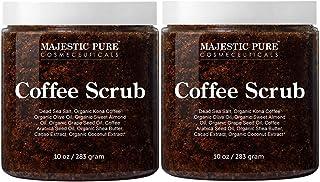 Majestic Pure Arabica Coffee Scrub - All Natural Body Scrub for Skin Care, Stretch Marks, Acne & Cellulite, Reduce the Loo...