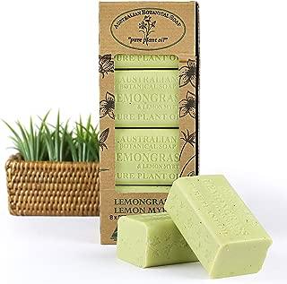 Australian Botanical Soap, Lemongrass & Lemon Myrtle Plant Oil Soap, 7 oz. 200g Bars - 8 Count