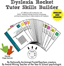 Dyslexia Rocket Tutor Skills Builder CD-ROM + Finger Spacers   Dyslexia Games   47 Printable Workbooks   +2000 Practice Worksheets   For Kids from 4 to 10 Years.