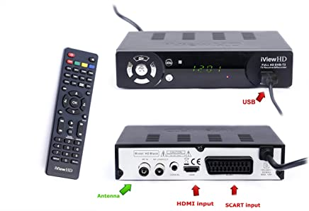 UK FULL HD 1080P Freeview HD Receiver & HD USB Recorder DIGITAL TV Set Top Box HD Digibox Terrestrial Tuner SCART + HDMI Out DVBT-T2 Analogue to Digital Television Converter, Multi Media Player, PVR