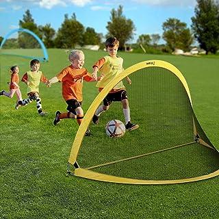 comprar comparacion INTEY Portería de fútbol de 2 Piezas Jaula de fútbol Infantil Pop UP Portería de fútbol Portería de fútbol Plegable con Es...