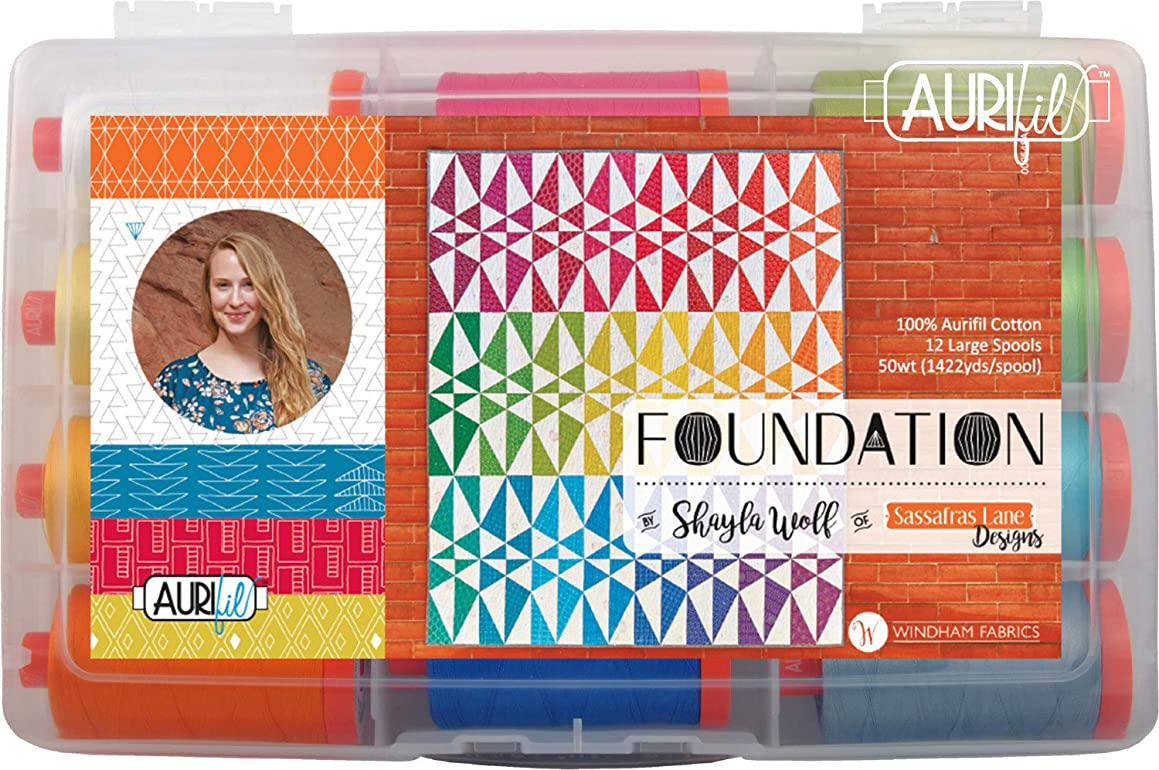Shayla Wolf Foundation Aurifil Thread Kit 12 Large Spools 50 Weight SW50FC12