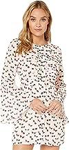 bebe Women's Elora Ruffle Sleeve Dress