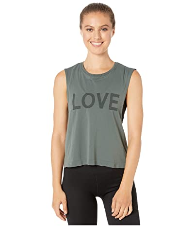 Spiritual Gangster Active Flow Top (Love Dusty Olive) Women
