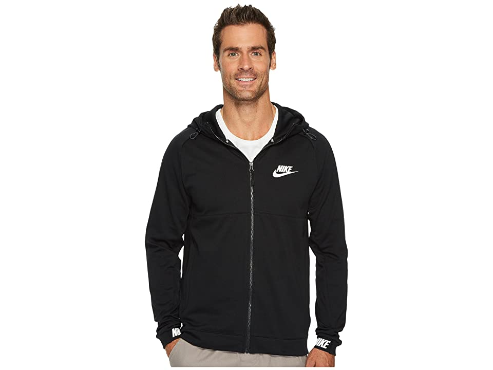 Nike Sportswear Advance 15 Full Zip Hoodie (Black/Black/White) Men