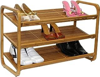 Oceanstar 3-Tier Bamboo Shoe Rack