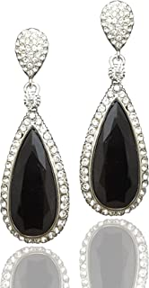 Moonstruck Costume Jewelry Women's Silver Dangle Drop Earrings