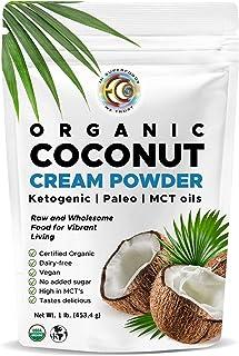 Sponsored Ad - Earth Circle Organics - Organic Coconut Cream | Milk Powder, Perfect Keto Coffee Creamer - High in MCT Oil,...