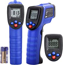 Koeson Professional Non-Contact Digital Laser Infrared Thermometer, Top Accuracy Temperature Gun -58℉~ 1022℉ (-50℃ ~ 550℃) with HD Backlit LCD Display, Adjustable Emissivity, Firm Grip/Blue & Black
