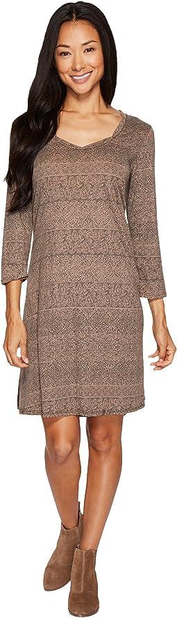 Moroccan Trellis Elbow Sleeve Swing Dress