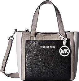 fb24ce4dce789 Pearl Grey Optic White Black. 1. MICHAEL Michael Kors. Gemma Small Pocket  Messenger
