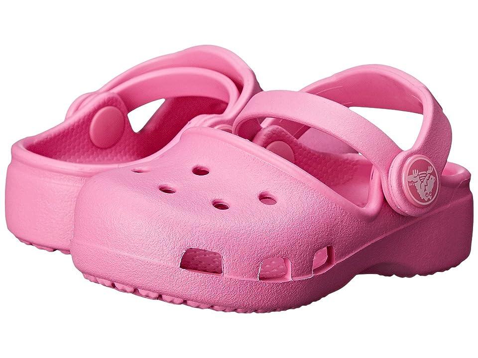 Crocs Kids Karin Clog K (Toddler/Little Kid) (Party Pink) Girls Shoes