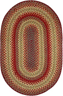 Cider Barn Premium Braided Jute Rug by Homespice, 6' x 9' Oval Red Color, Reversible Imported Jute Yarn, Higher Quality, Longer Lasting, Longer Wear - 30 Day Risk Free Purchase