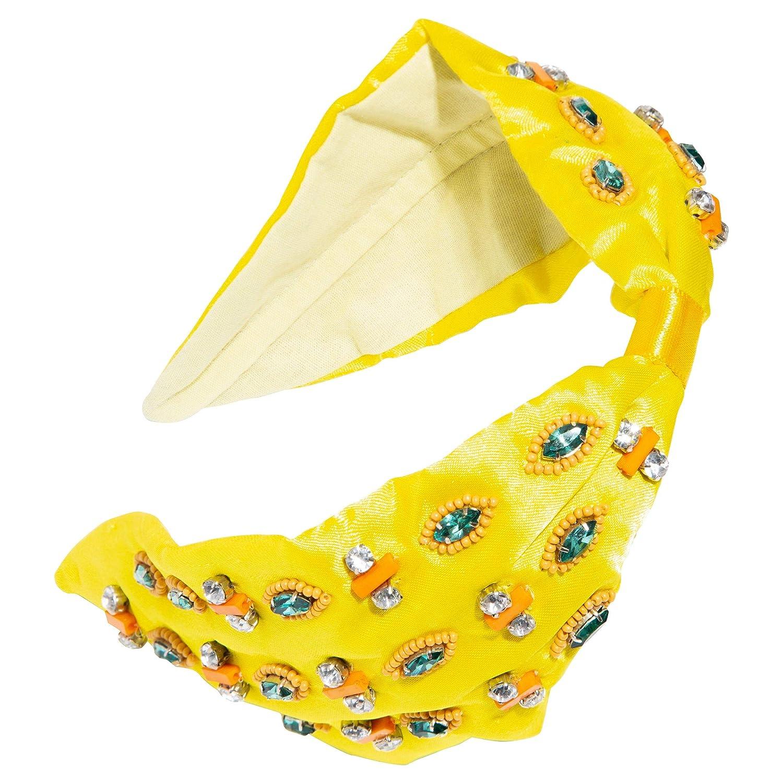 L. Erickson Ixtapa Beaded Headband - Yellow