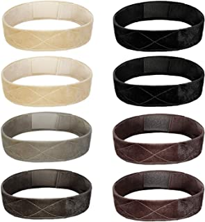 SIQUK 8 Pcs Wig Grip Band Velvet Wig Headband Adjustable Wig Scarf Hat Grip Band Hook and Loop Hair Band for Women