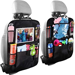 HOME-MART 2 Pack Car Organisers,Car Back Seat Organiser,Car Tablet Holder,Waterproof Backseat Cover 5 Storage Pockets,Kids...