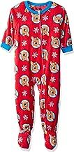 Rudolph Boys' Toddler Fleece Footed Blanket Sleeper