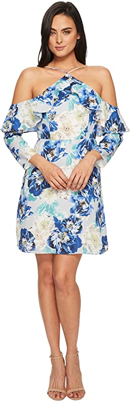 CeCe - Iris Off the Shoulder Ruffle Floral Dress