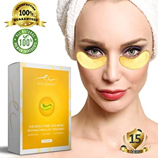 Under Eye Bags Treatment Patches | Collagen Eye Mask for Moisturizing | Reducing Dark Circles | Remove Eye Bags,Puffy Eyes, Smoothing Skin, Natural Lift |15 Pairs