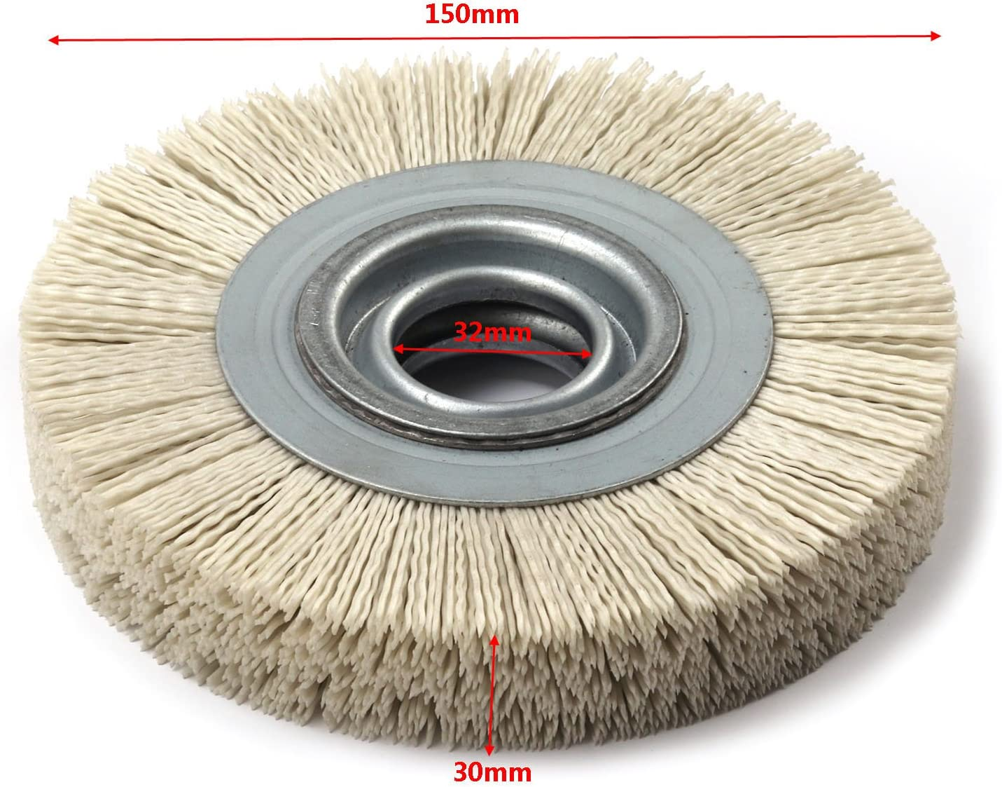 6 Inch 80 Grit Abrasive Wire Nylon Wheel Polish Bench Grinder Wood Furniture