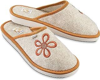 Bosaco, pantofole in feltro da donna, motivo fiore