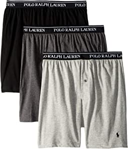 Classic Fit w/ Wicking 3-Pack Knit Boxers