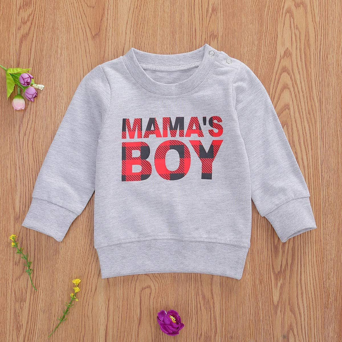 Toddler Baby Boys Sweatshirt Mama is My Bestie Pullover Top Long Sleeve Letters Shirt Blouse Fall Winter Clothes (C-White, 18-24 Months)