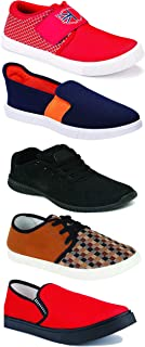 WORLD WEAR FOOTWEAR Sports Running Shoes/Casual/Sneakers/Loafers Shoes for Men Multicolor (Combo-(5)-1219-1221-1140-383-693)