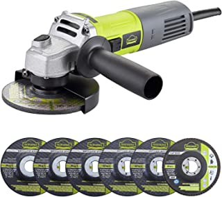 Sponsored Ad – Angle Grinder, DEWINNER Corded Cutting Grinding Polishing, with Disc, Side Handle, 850 W 220-240 V x Cutte...