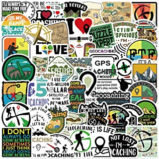 50 Pieces Set Outdoor Geographic Exploration Geocaching Waterproof Vinyl Stickers For Laptop car Snowboard Motorcycle Bicy...