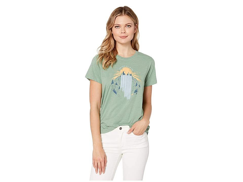 United By Blue Rolling Waters Short Sleeve 55/45 Graphic Tee (Fern Green) Women