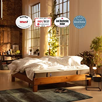 Emma Original King Size Mattress 150x200 cm 25 cm high Memory Foam Mattress Which? Best Buy 2020 Mattress I Good Housekeeping Institute Approved I 200 Nights trial I 10 years warranty