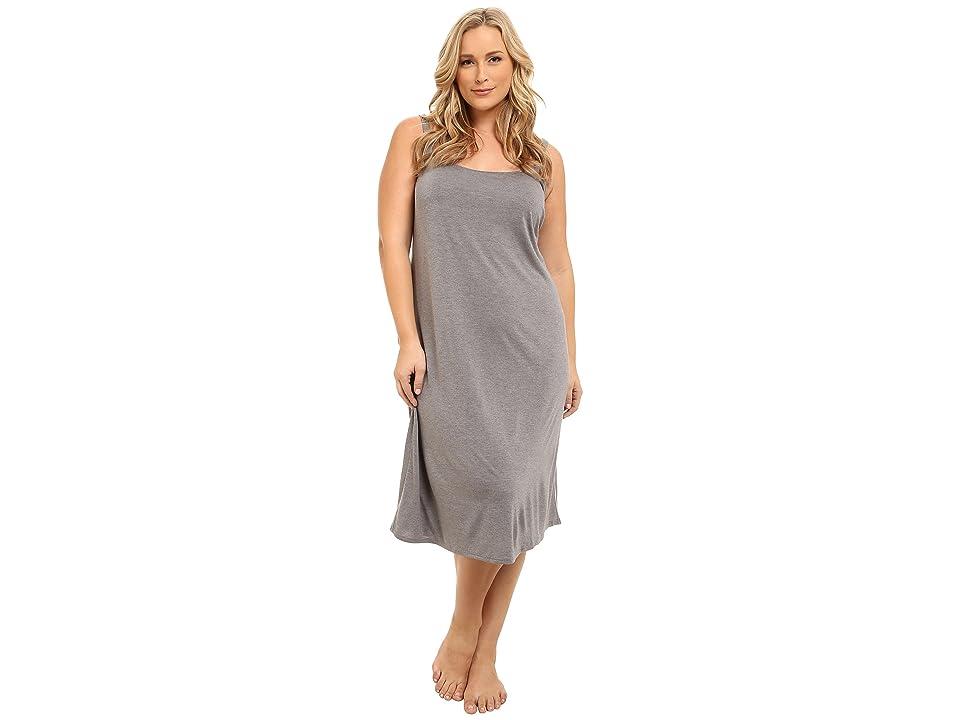 Natori Plus Size Shangri-La Gown (Heather Grey) Women