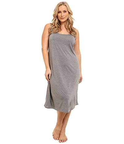 Natori Plus Size Shangri-La Gown (Heather Grey) Women