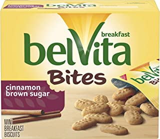 belVita Cinnamon Brown Sugar Mini Breakfast Biscuit Bites, 5 Packs