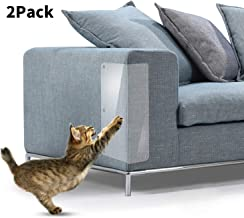 2 Pcs Cat Scratch Furniture Protectors From Cats, Stop Cat Scratching Couch, Door Other Furniture And Car Seat, Self-adhesive Flexible Vinyl Sheet With Twist Pins, Pet Scratch Deterrent for Furniture