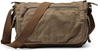 Gootium Canvas Messenger Bag - Vintage Cross Body Shoulder Satchel, Army Green
