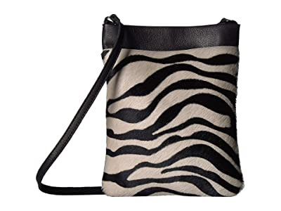 Leatherock Monroe Cell Pouch (Hair Zebra Black/White) Cross Body Handbags
