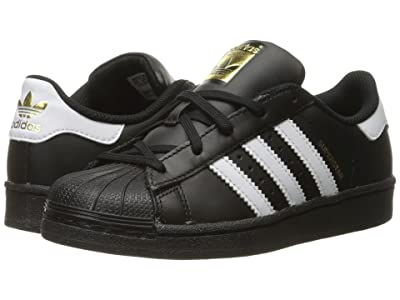 adidas Originals Kids Superstar C Foundation (Little Kid) (Black/White/Black 2) Kids Shoes