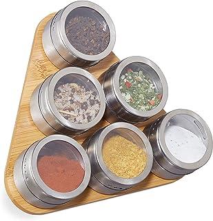 130 Etiquetas de Especias Frascos de Especias Magn/éticas de Acero Inoxidable Yuning Especias de Cocina Tarro,12 Caja de condimentos Transparente Frascos de Especias Redondos