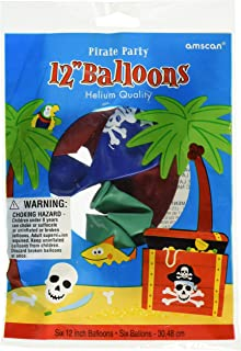 amscan Pirate Party Printed Latex Balloons
