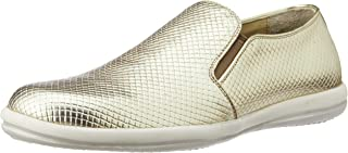 CG Shoe Men's Gold Leather Sneakers - 10 UK (CG-TK 33)