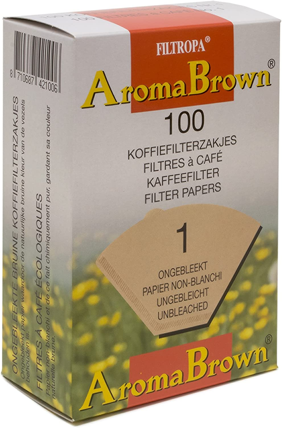 Filtropa AromaBrown Ranking TOP1 Unbleached Disposable Over Filte trend rank Coffee Pour