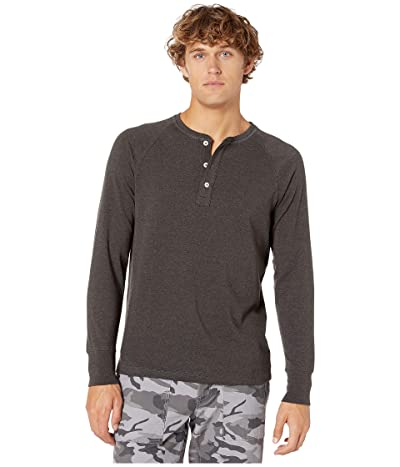 The Normal Brand Long Sleeve Puremeso Henley (Charcoal) Men