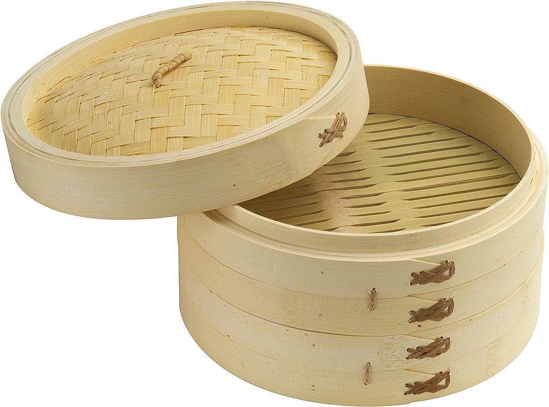 Joyce Chen 26 0013 Bamboo Steamer Set 10 Inch