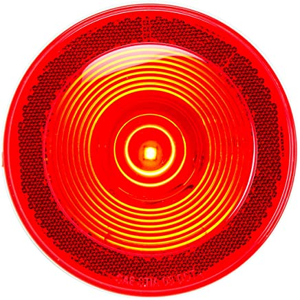 GG Grand General 76385 12 Inch 19-Led Flush Mount Light Bar Red Lens 3 Wires